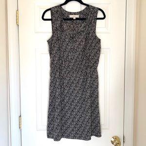 Ann Taylor Loft Black and White Printed Dress